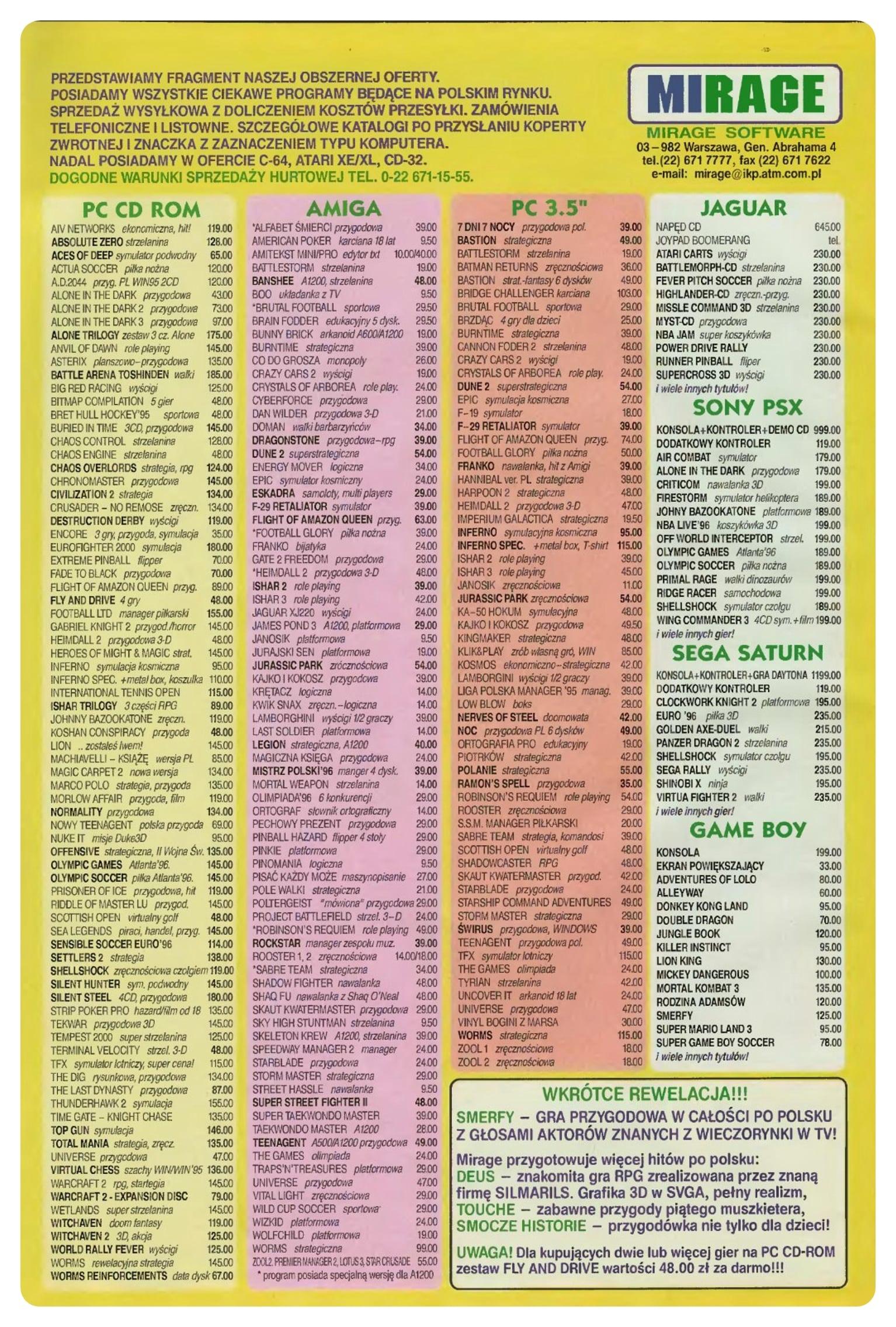ss 09 wrzesien 96 - Jak wyglądały ceny różnych konsol w Polsce w latach 1996-2006?