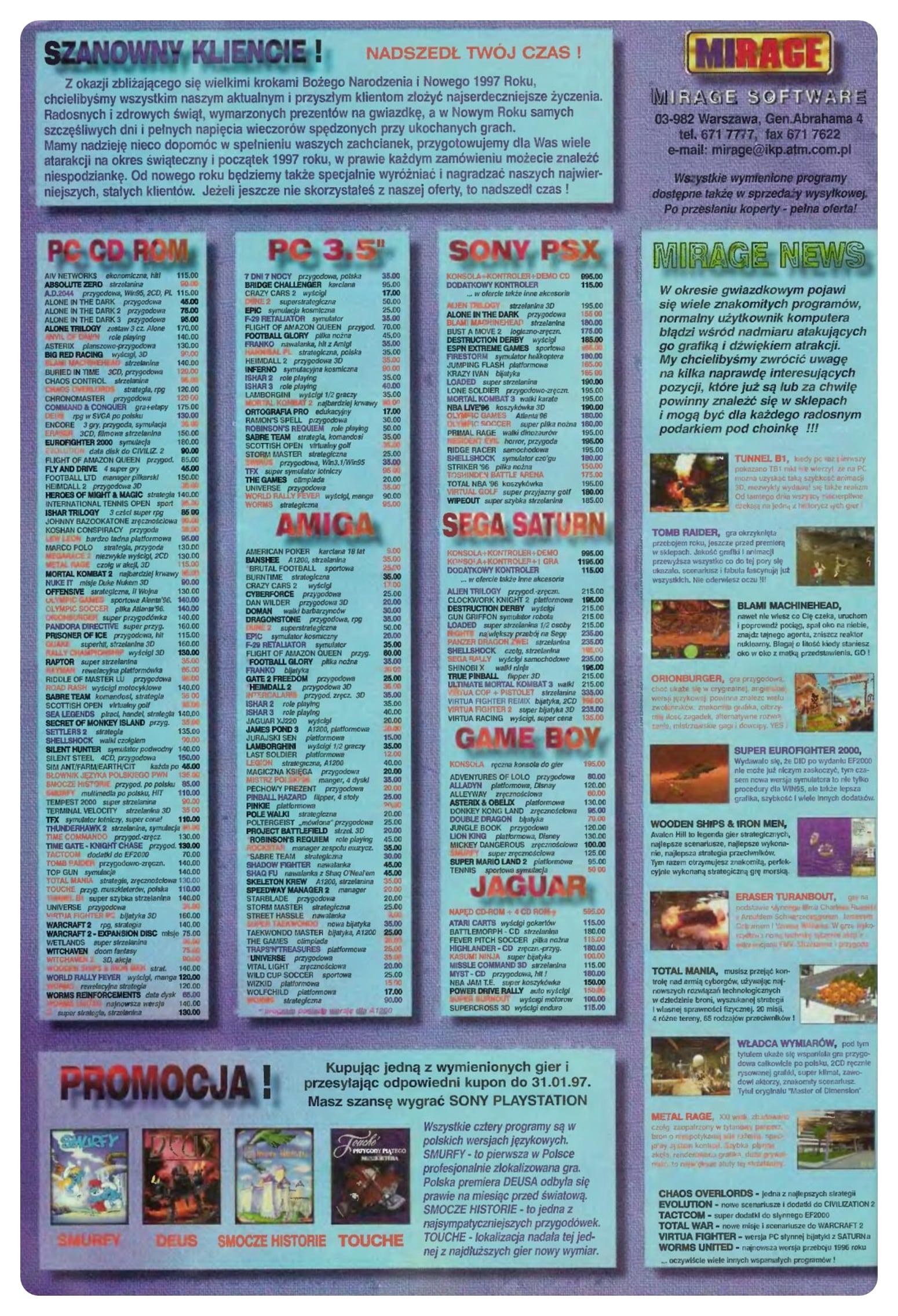 ss 12 grudzien 96 - Jak wyglądały ceny różnych konsol w Polsce w latach 1996-2006?