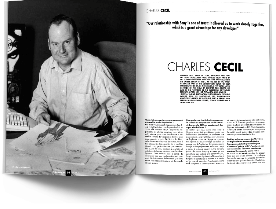 "Pages064 065 ITW.CharlesCecil PSX1 VOL1 - ""Antologia PlayStation"" - zapowiedź"