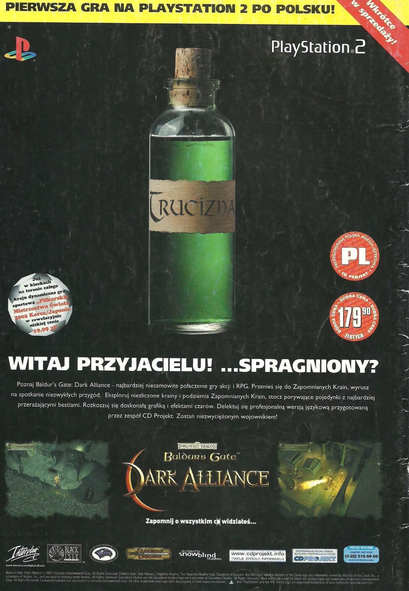 baldurs gate pl ps2 2 - Historia CD Projekt i ich pierwszej, niedoszłej gry po polsku na PS2