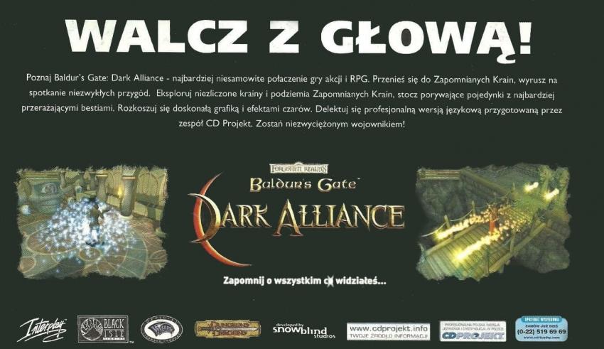 baldurs gate pl ps2 baner 850x491 - Historia CD Projekt i ich pierwszej, niedoszłej gry po polsku na PS2