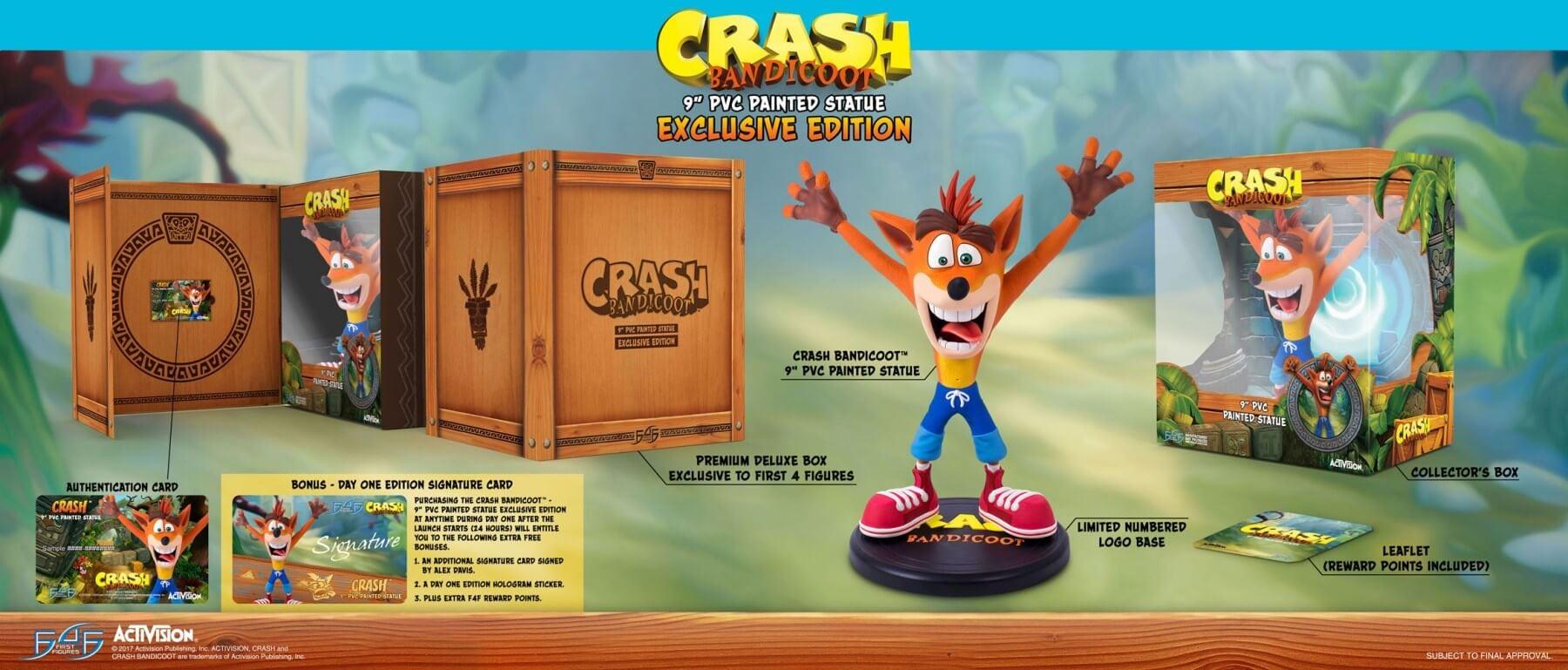 crash bandicoot figurka 02 - Kolekcjonerskie figurki Spyro the Dragon oraz Crash Bandicoot od First 4 Figures!