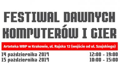 festiwal dawne komputery gry 384x220 - Festiwal Dawnych Komputerów i Gier - Kraków 2017