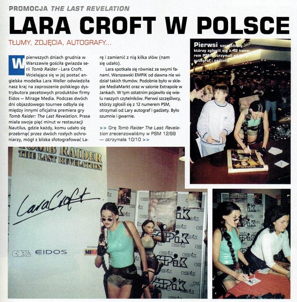 lara weller polska 2 - Pierwsza wizyta Lary Croft w Polsce