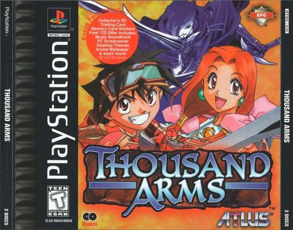 thousand arms - Najdroższe gry na PSX wydane w regionie NTSC-U/C
