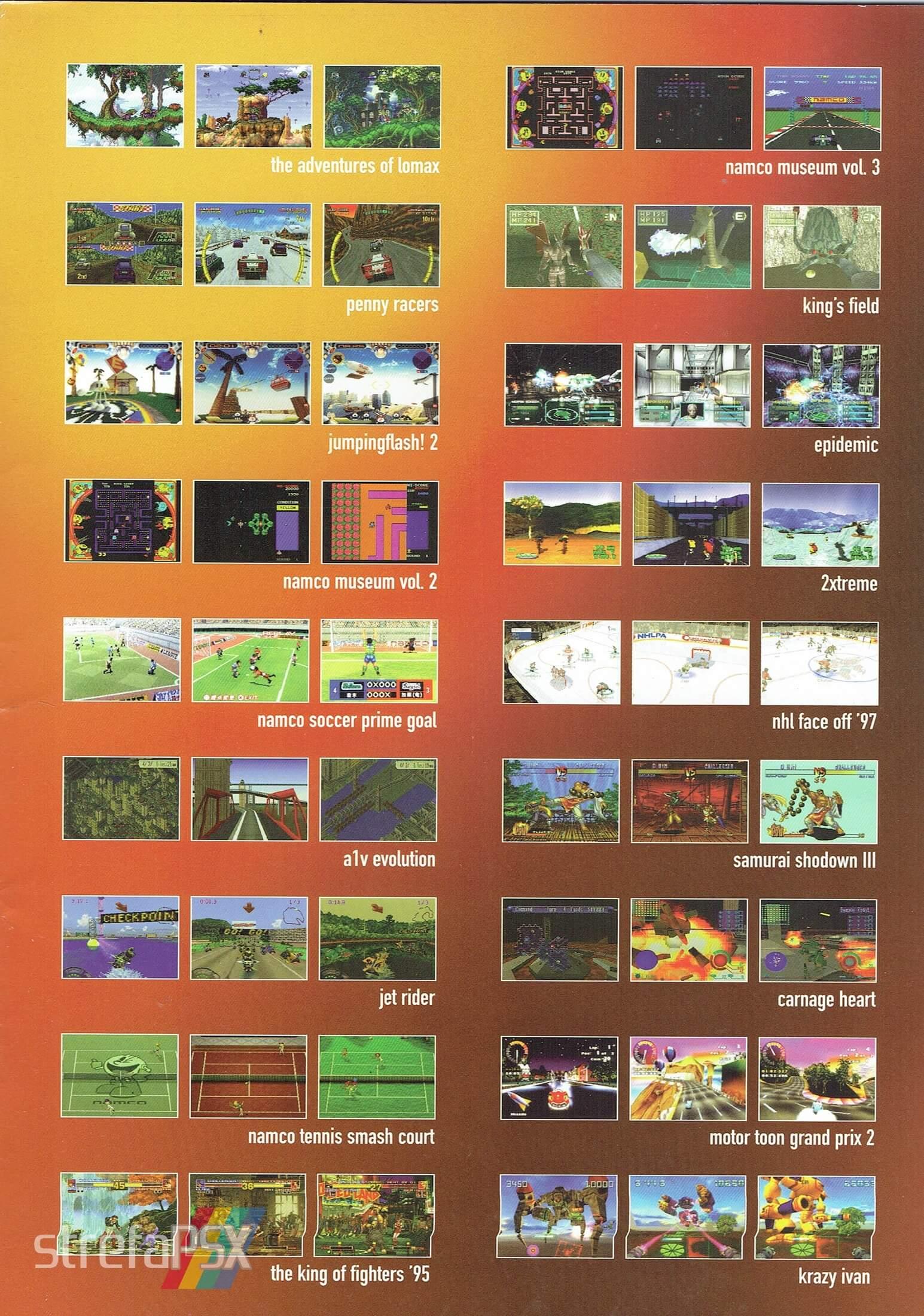 broszura reklamowa psx 04 - Broszury reklamowe PlayStation z dawnych lat
