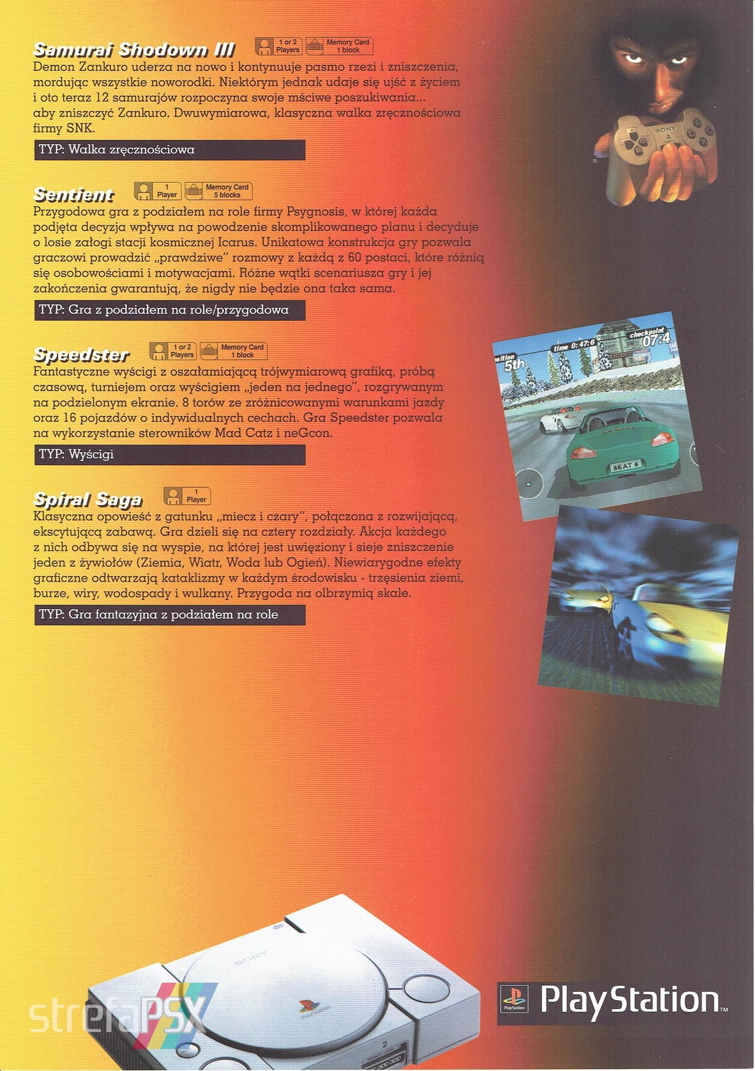 broszura reklamowa psx 09 - Broszury reklamowe PlayStation z dawnych lat