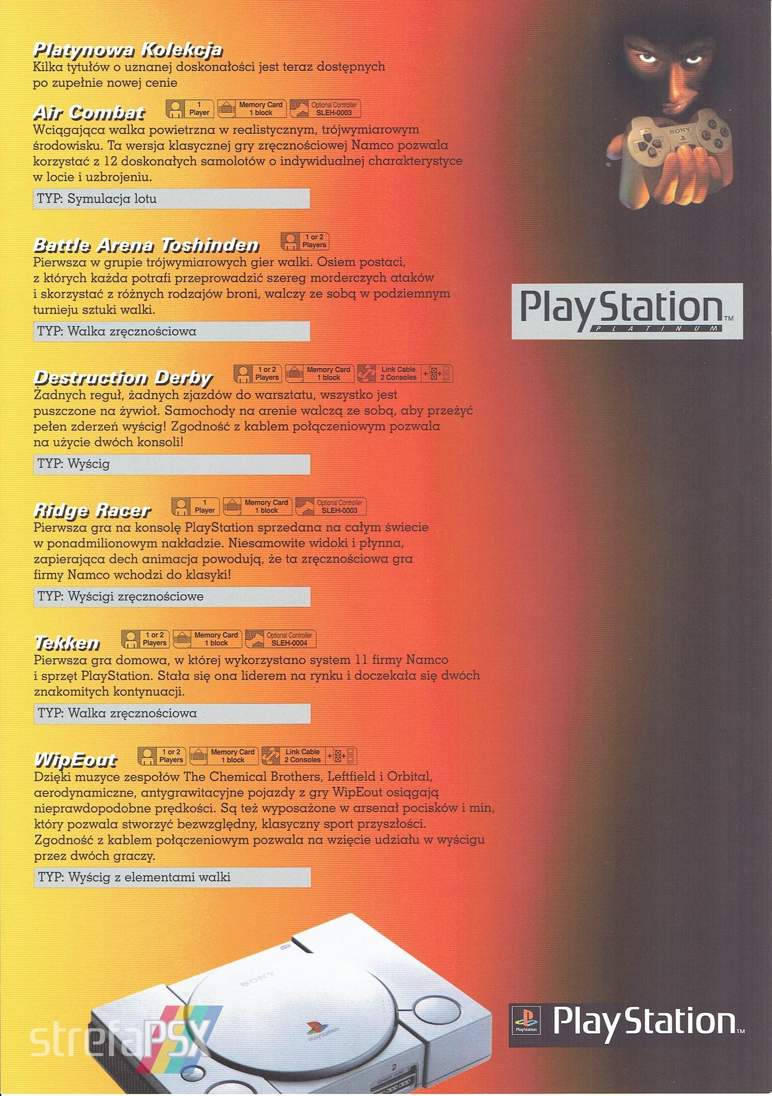 broszura reklamowa psx 10 - Broszury reklamowe PlayStation z dawnych lat