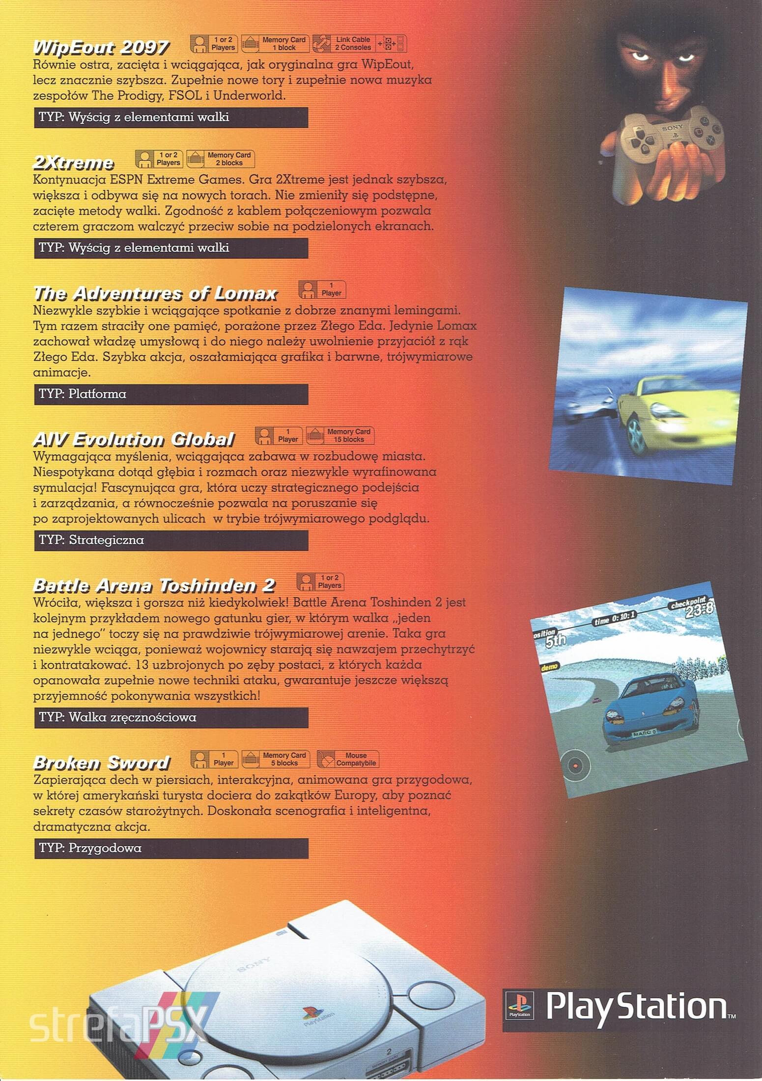 broszura reklamowa psx 12 - Broszury reklamowe PlayStation z dawnych lat