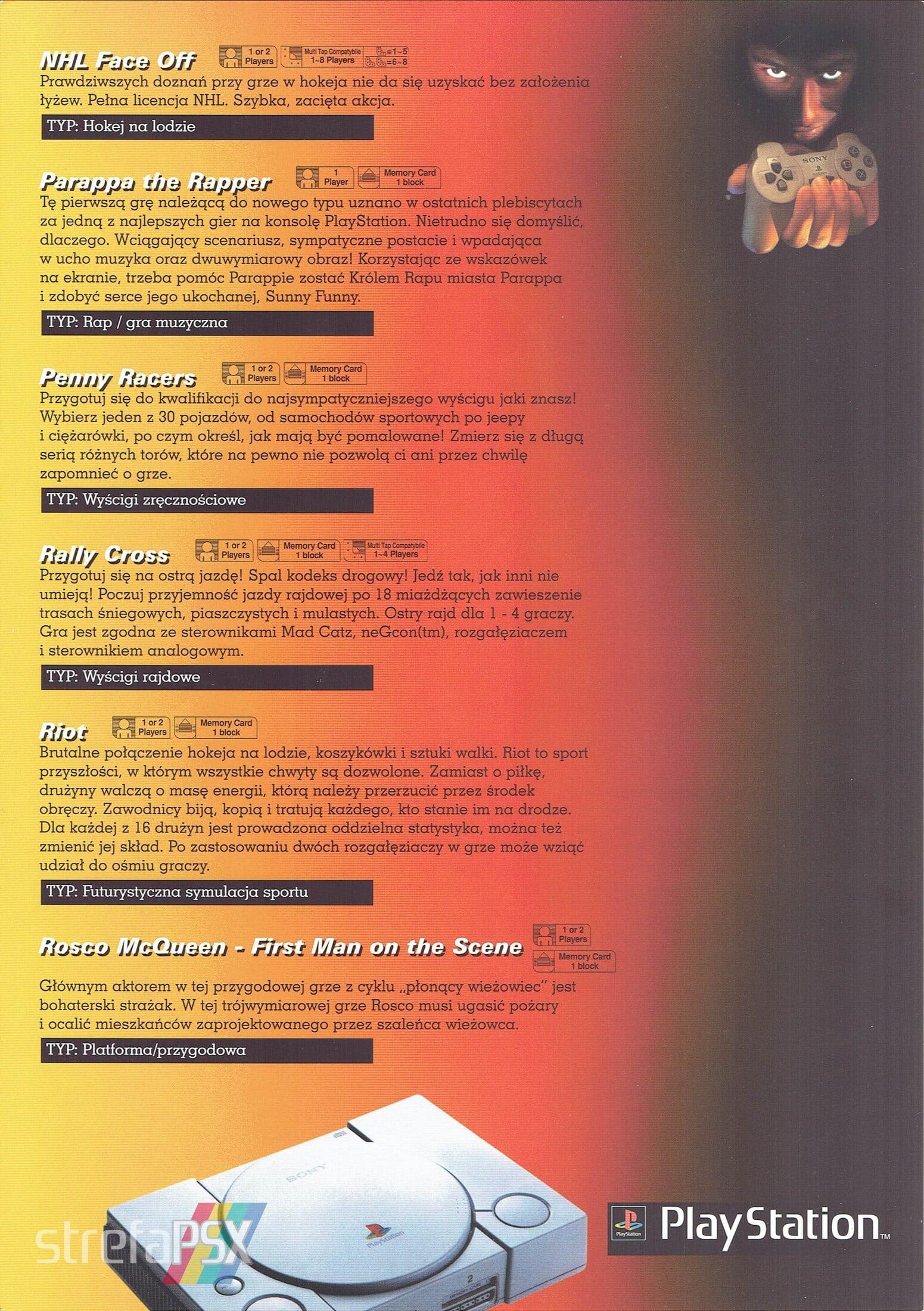 broszura reklamowa psx 13 - Broszury reklamowe PlayStation z dawnych lat