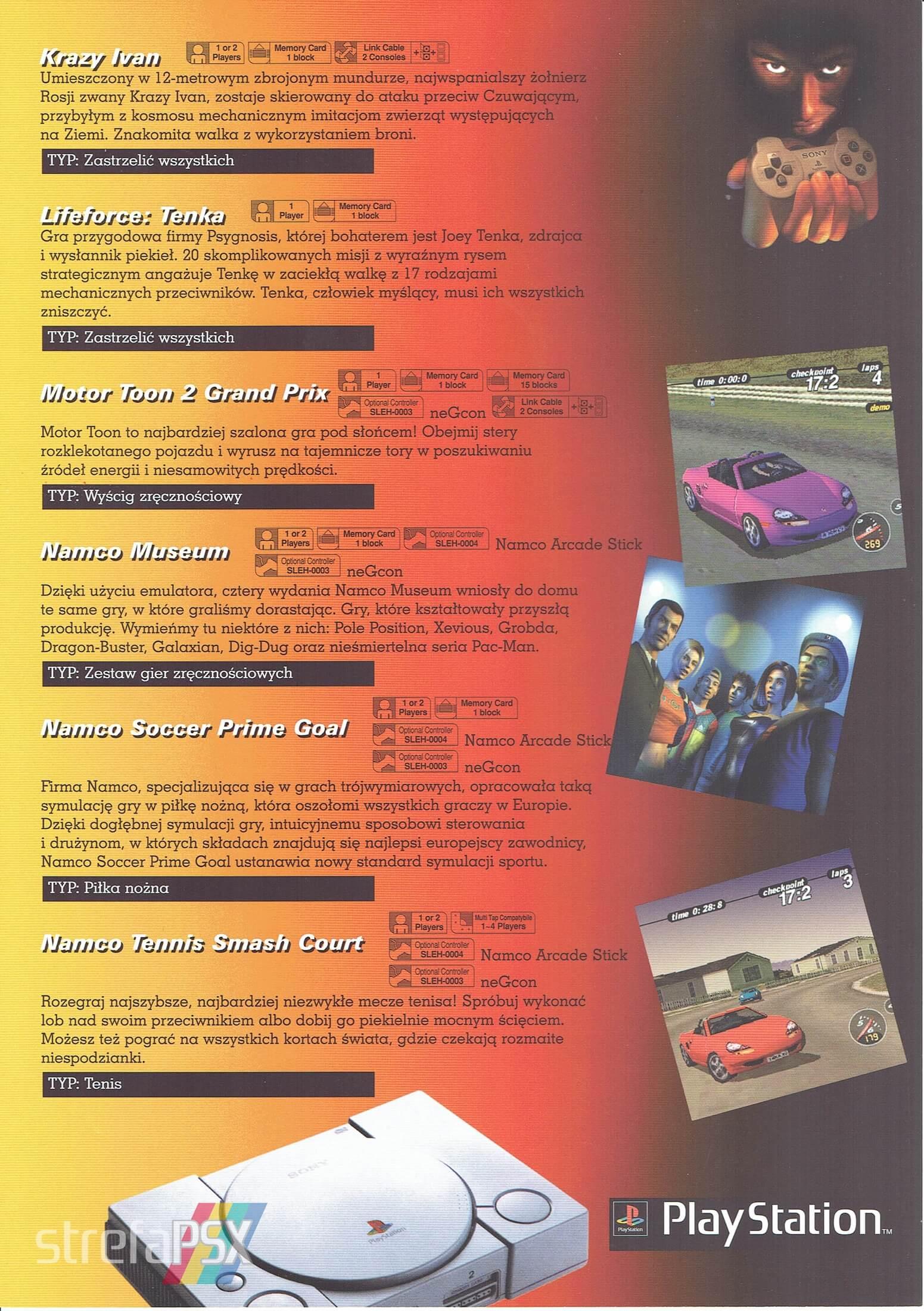 broszura reklamowa psx 14 - Broszury reklamowe PlayStation z dawnych lat