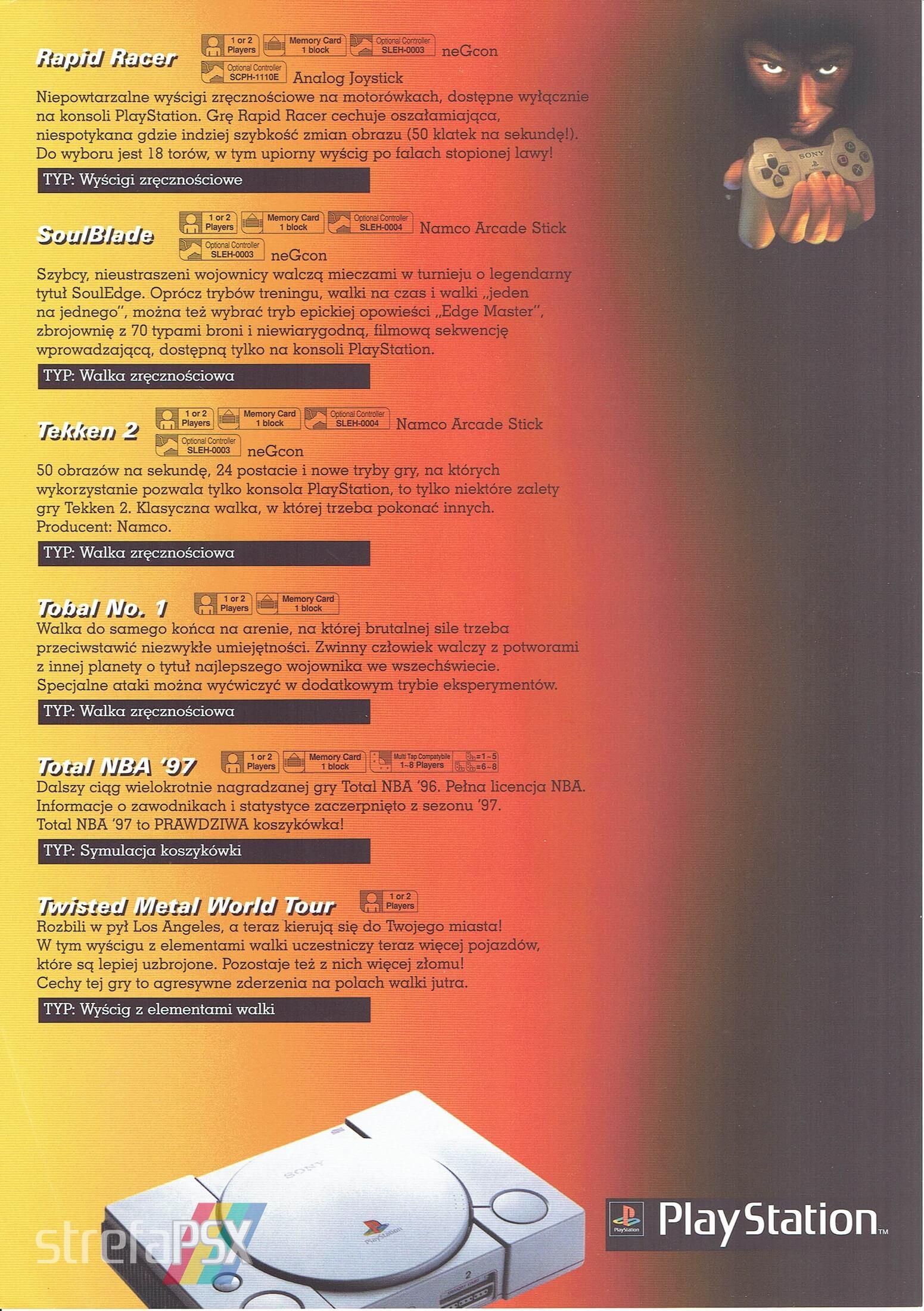 broszura reklamowa psx 16 - Broszury reklamowe PlayStation z dawnych lat