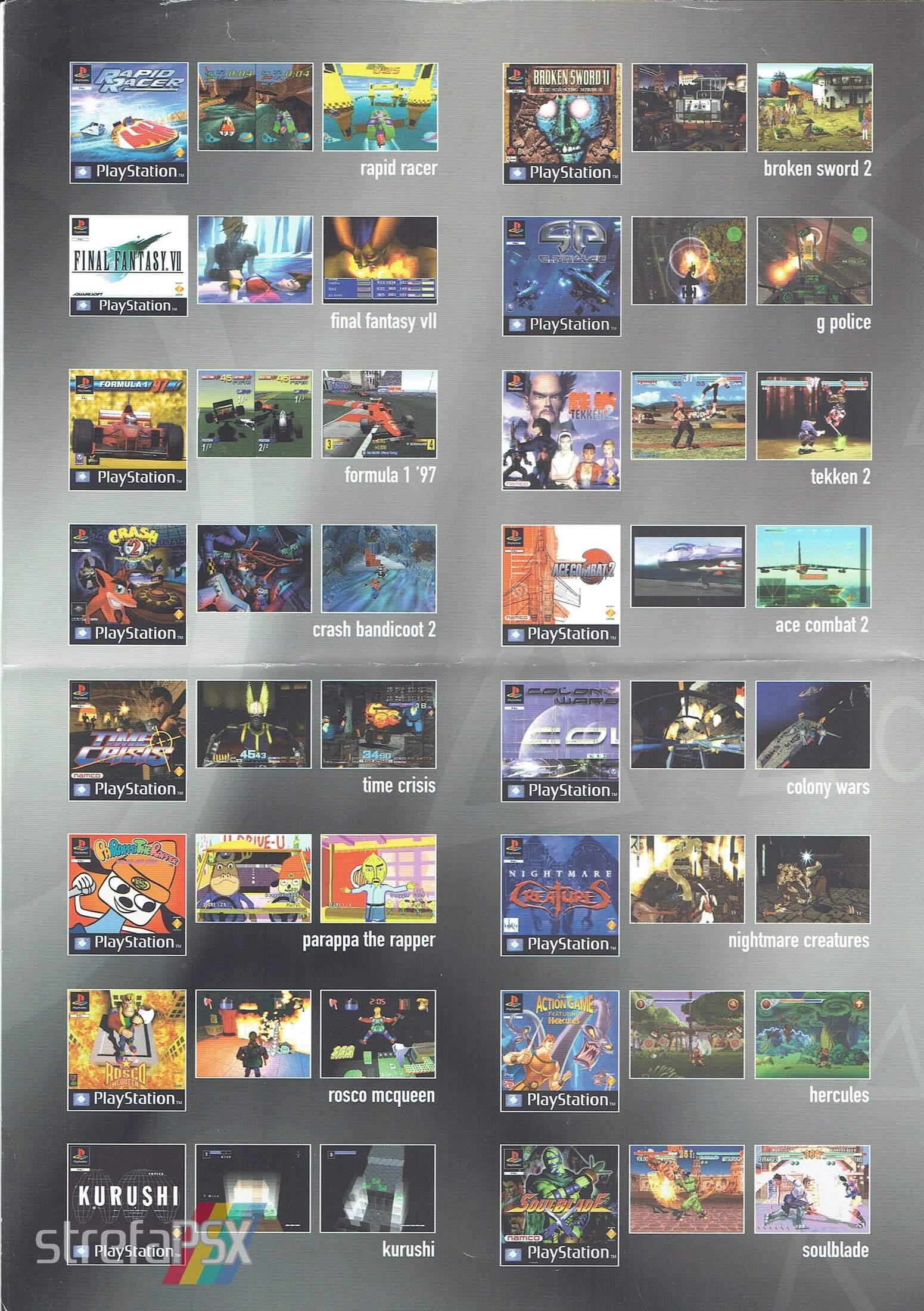 broszura reklamowa psx 19 - Broszury reklamowe PlayStation z dawnych lat