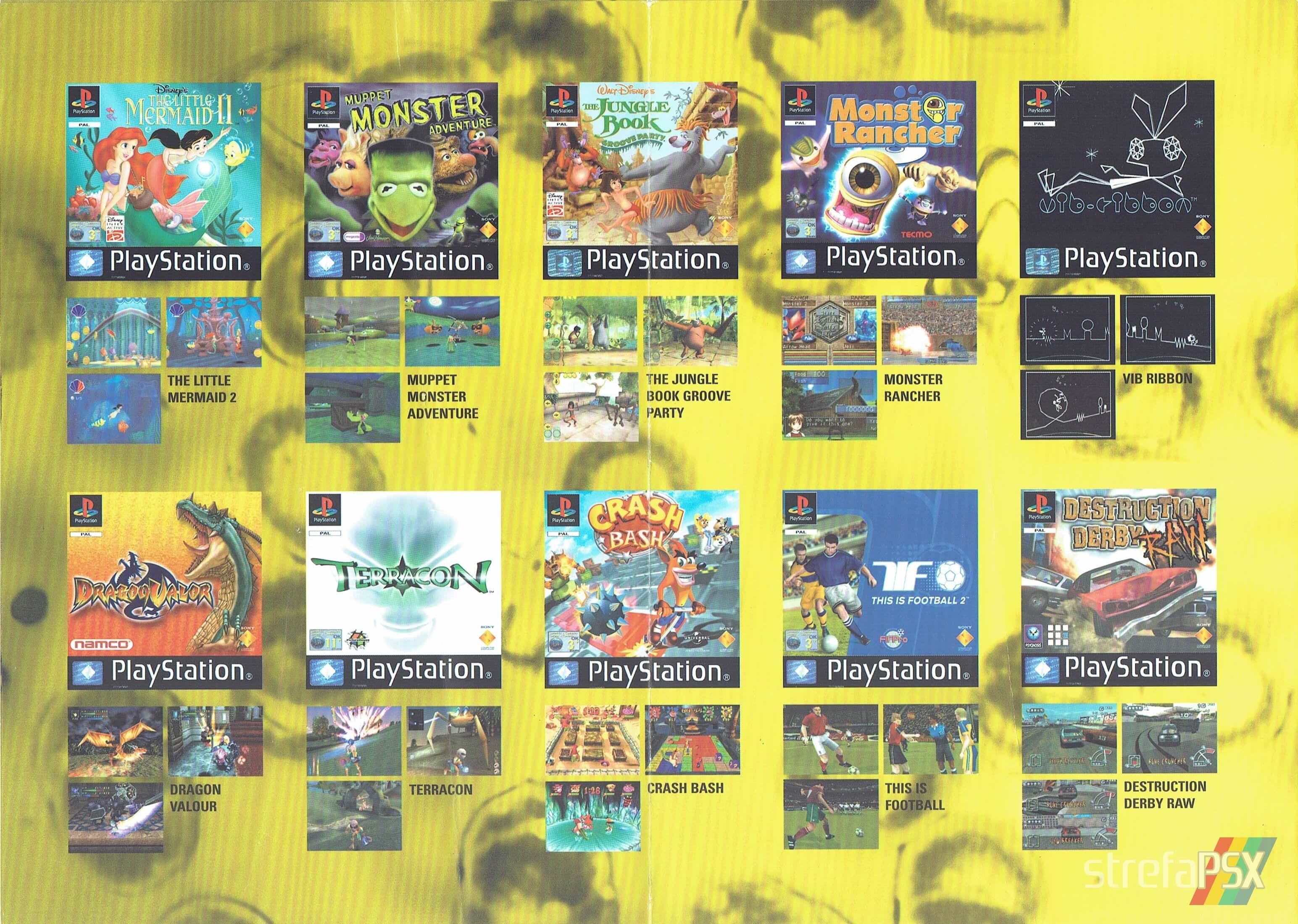 broszura reklamowa psx 203 - Broszury reklamowe PlayStation z dawnych lat