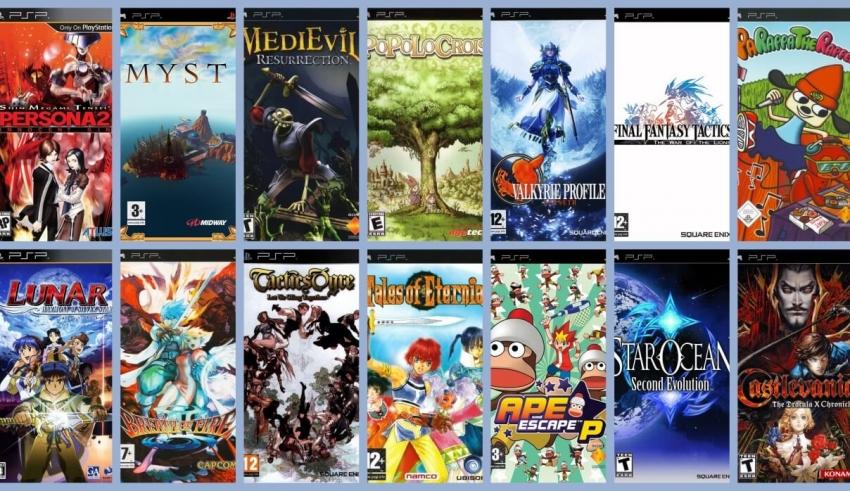 gry psx psp baner 850x491 - [Wykaz gier] Porty gier z PSX na PSP