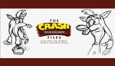 crash bandicoot files baner new reduced 1 384x220 - Artbook dla fanów pierwszego Crasha już w sprzedaży!