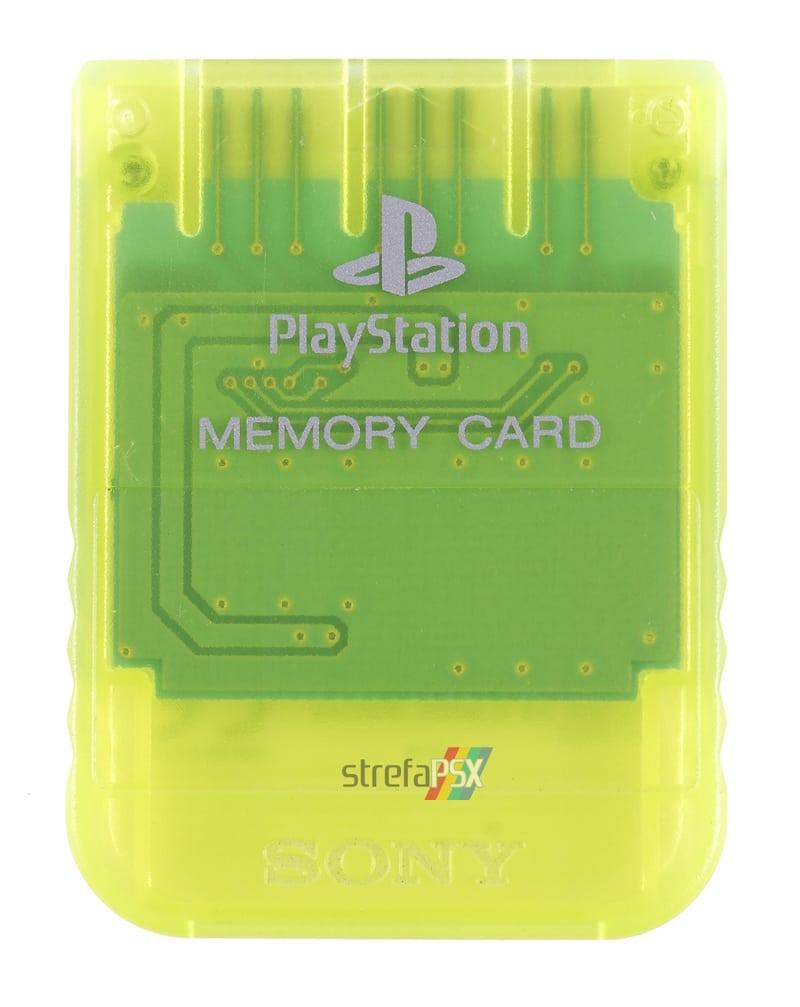 """memory card scph 1020yi psx - [SCPH-1020YI] Memory Card / Karta pamięci """"Lemon Yellow"""""""