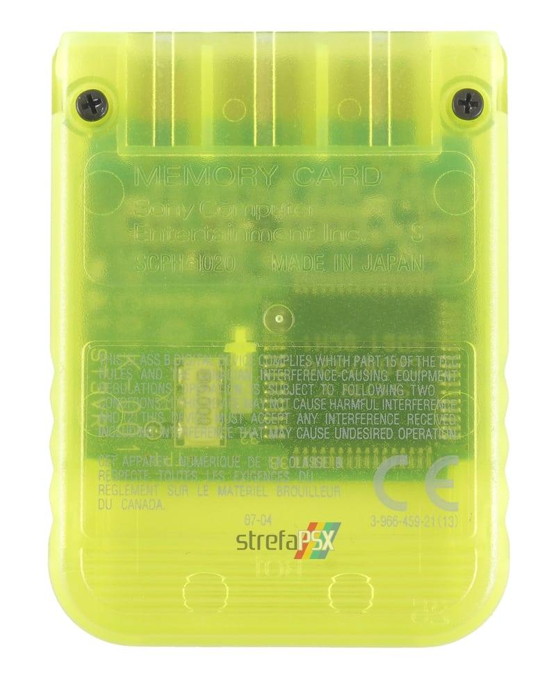 """memory card scph 1020yi psx 2 - [SCPH-1020YI] Memory Card / Karta pamięci """"Lemon Yellow"""""""