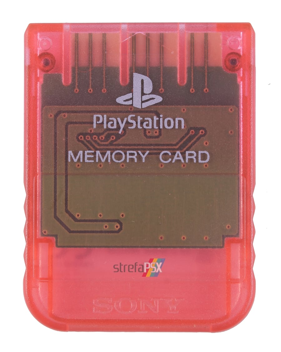 "memory card scph1020ri 17 - [SCPH-1020RI] Memory Card / Karta pamięci ""Cherry Red"""
