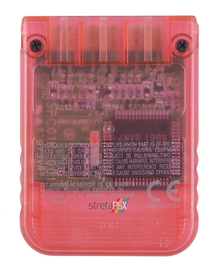 "memory card scph1020ri 18 - [SCPH-1020RI] Memory Card / Karta pamięci ""Cherry Red"""
