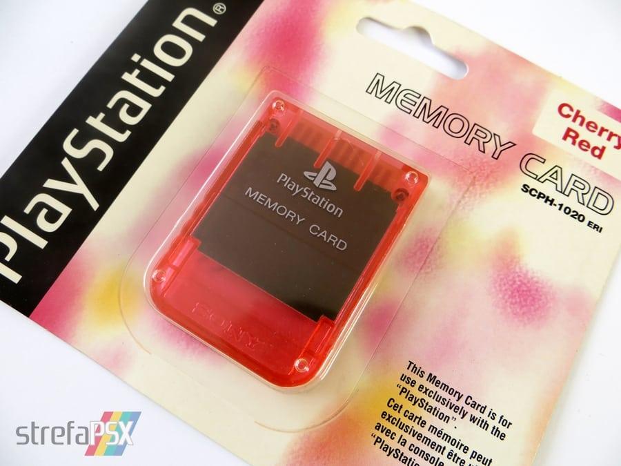 "memory card scph1020ri 6 - [SCPH-1020RI] Memory Card / Karta pamięci ""Cherry Red"""