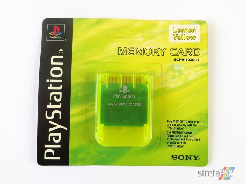 """memory card scph1020yi 1 - [SCPH-1020YI] Memory Card / Karta pamięci """"Lemon Yellow"""""""