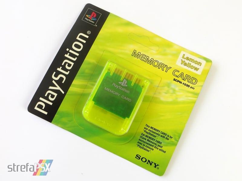 """memory card scph1020yi 3 - [SCPH-1020YI] Memory Card / Karta pamięci """"Lemon Yellow"""""""