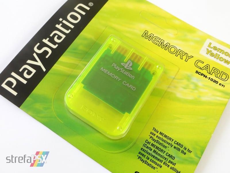 """memory card scph1020yi 6 - [SCPH-1020YI] Memory Card / Karta pamięci """"Lemon Yellow"""""""
