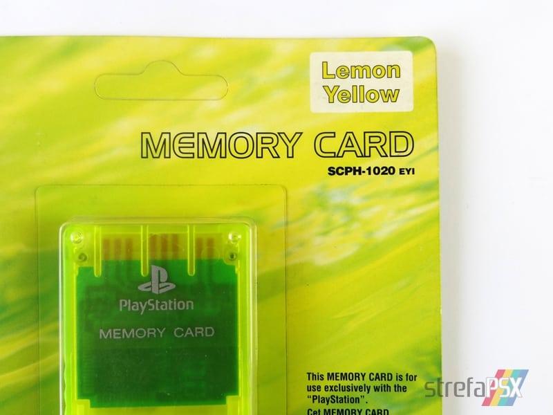 """memory card scph1020yi 7 - [SCPH-1020YI] Memory Card / Karta pamięci """"Lemon Yellow"""""""