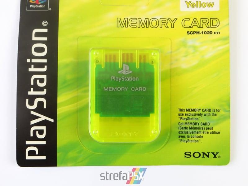 """memory card scph1020yi 8 - [SCPH-1020YI] Memory Card / Karta pamięci """"Lemon Yellow"""""""