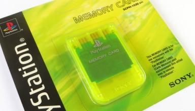 """memory card scph1020yi baner 384x220 - [SCPH-1020YI] Memory Card / Karta pamięci """"Lemon Yellow"""""""
