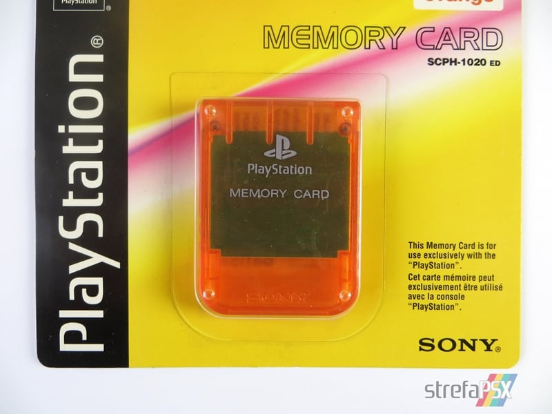 "memory card scph 1020ed04 - [SCPH-1020D] Memory Card / Karta pamięci ""Candy Orange"""