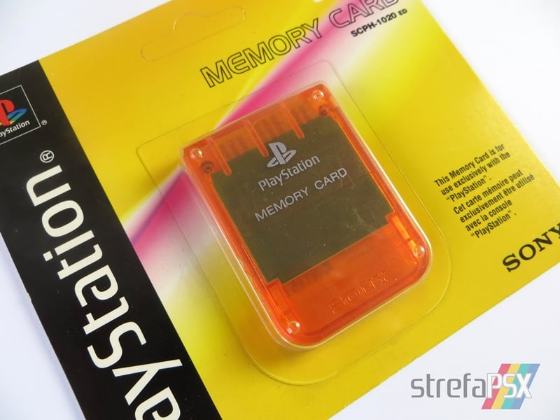"memory card scph 1020ed06 - [SCPH-1020D] Memory Card / Karta pamięci ""Candy Orange"""