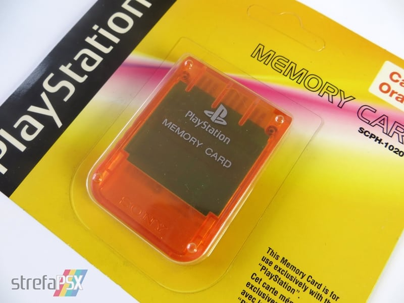 "memory card scph 1020ed07 - [SCPH-1020D] Memory Card / Karta pamięci ""Candy Orange"""