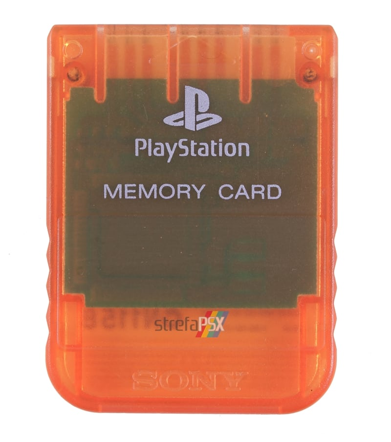 "memory card scph 1020ed body02 - [SCPH-1020D] Memory Card / Karta pamięci ""Candy Orange"""