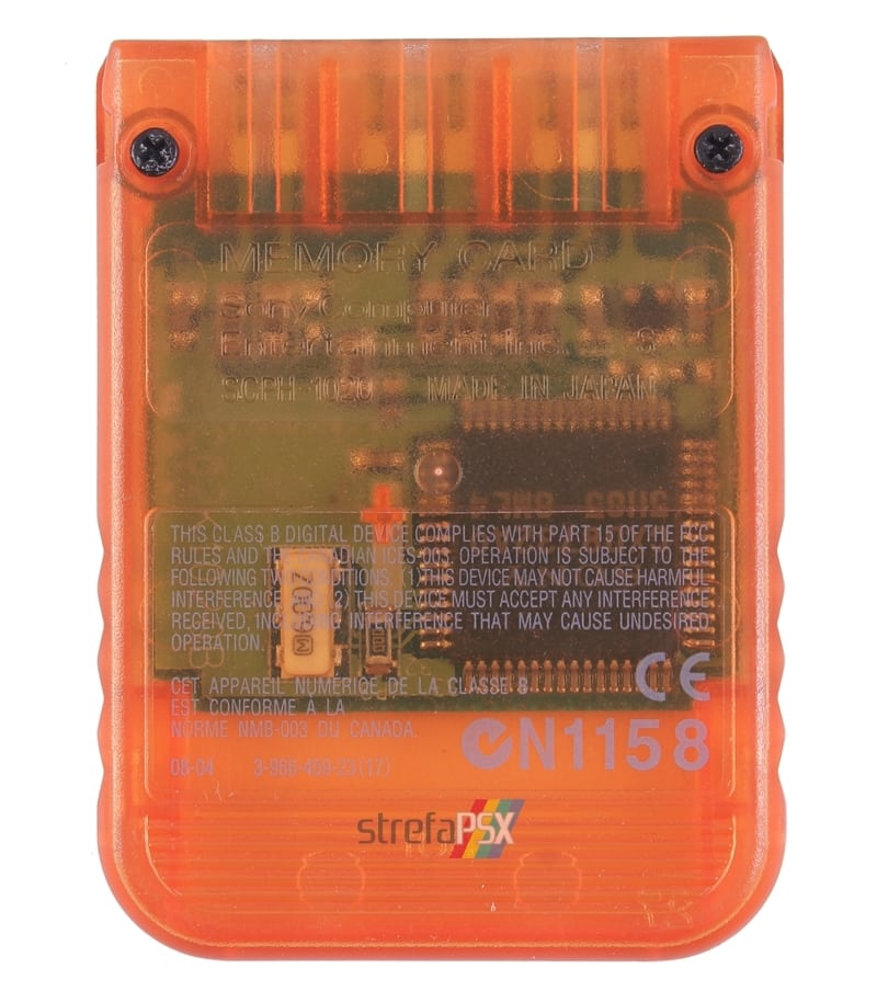 "memory card scph 1020ed body 201 - [SCPH-1020D] Memory Card / Karta pamięci ""Candy Orange"""