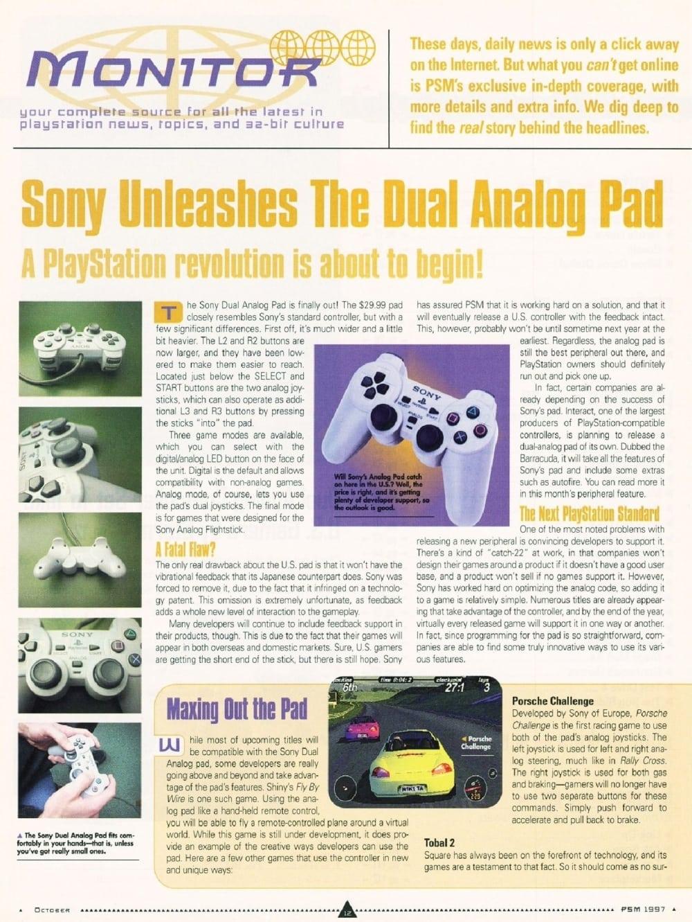 historia dual analog 10 - Historia kontrolerów PlayStation cz. III - Dual Analog i jego rywalizacja z padem od Nintendo 64