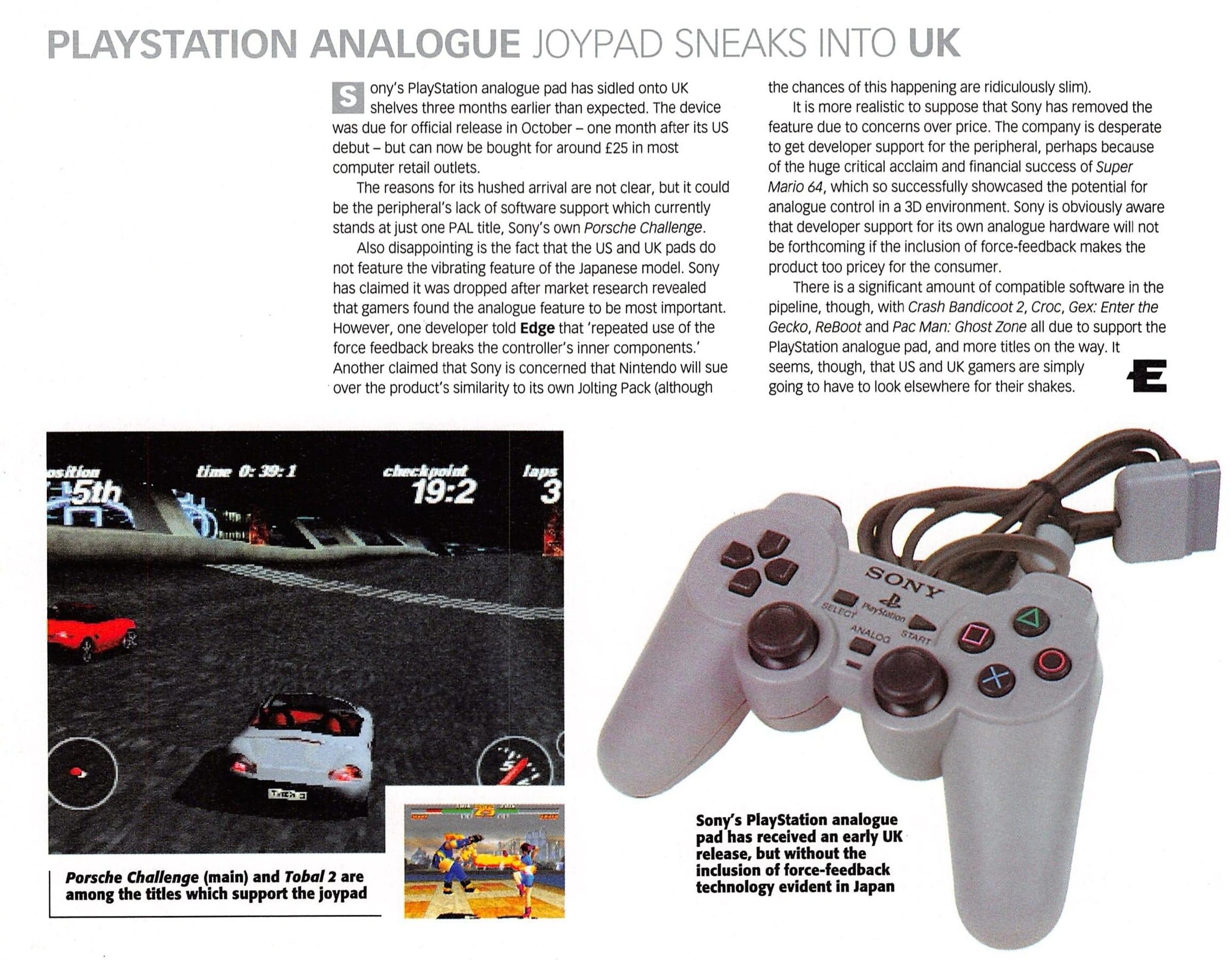 historia dual analog 11 - Historia kontrolerów PlayStation cz. III - Dual Analog i jego rywalizacja z padem od Nintendo 64