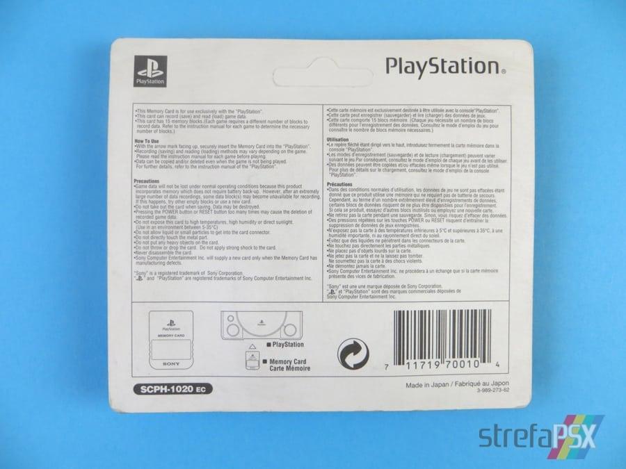"memory card scph1020c 9 - [SCPH-1020C] Memory Card / Karta pamięci ""Crystal"""