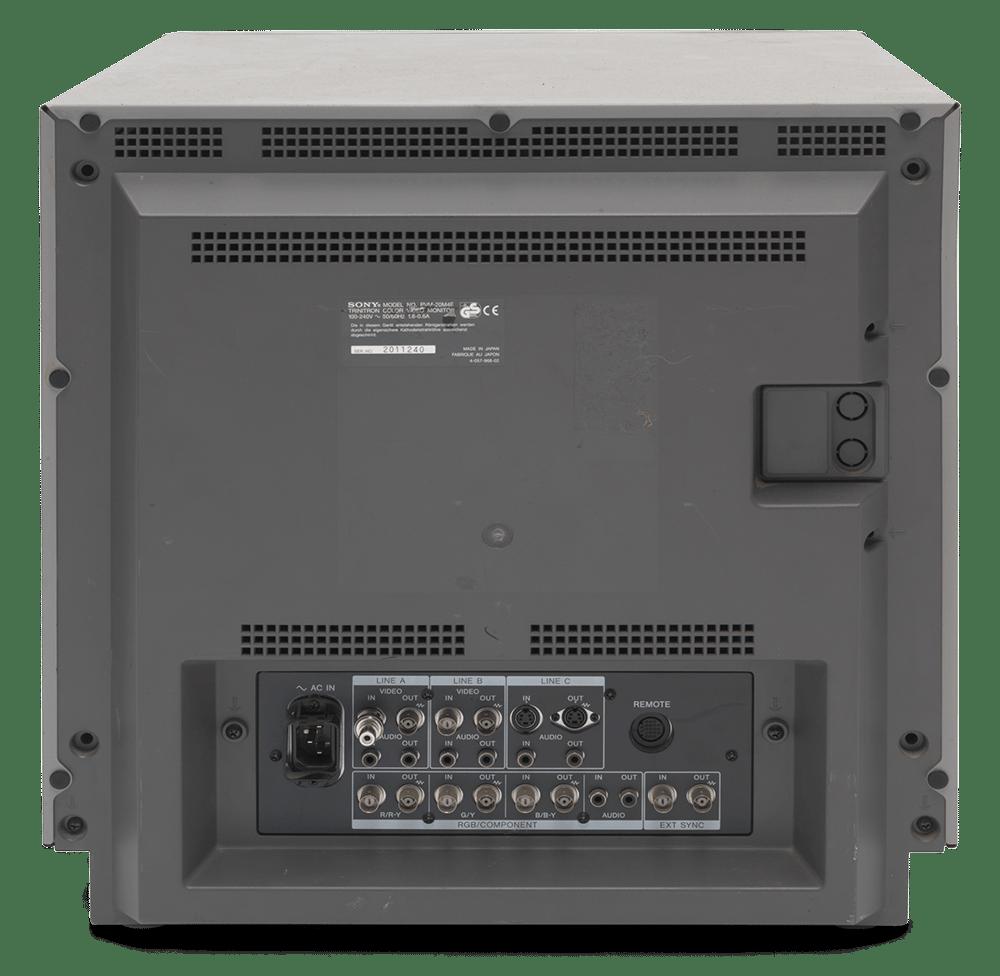 monitor pvm20 tyl - Wykorzystanie monitorów RGB w retrogamingu