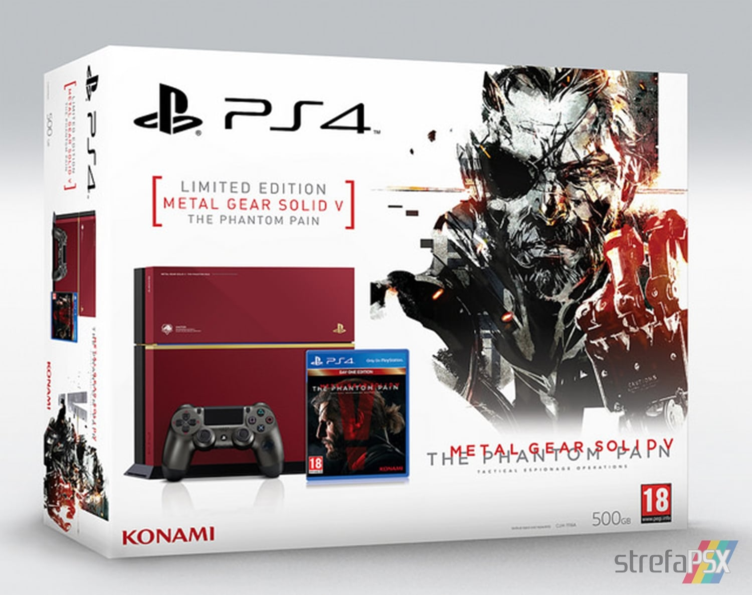 "ps4 metal gear solid 01 - PlayStation 4 FAT 500GB ""Metal Gear Solid V: The Phantom Pain"" Limited Edition"
