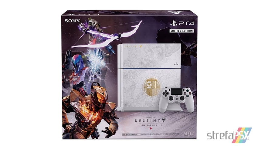 "ps4 destiny limitowana kontroler 05 - PlayStation 4 FAT 500 GB ""Destiny: The Taken King"" Limited Edition"