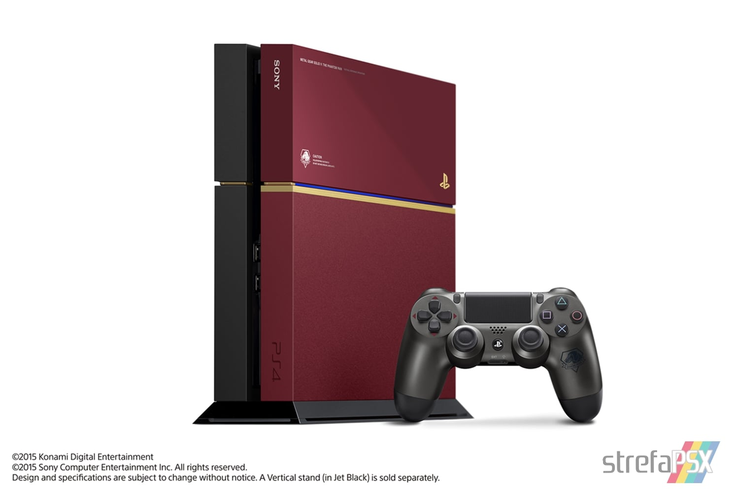 "ps4 fat metal gear solid limited 01 - PlayStation 4 FAT 500GB ""Metal Gear Solid V: The Phantom Pain"" Limited Edition"