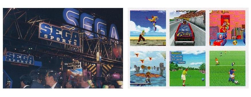 e3 1995 sega booth - Historia targów E3 z 1995 roku. Przełomowy moment w historii gier.