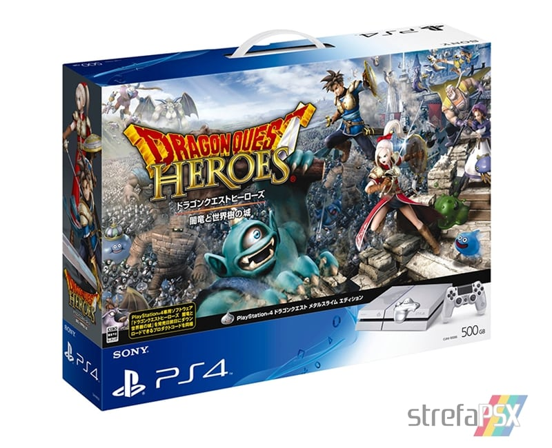 "ps4 dragon quest heroes 10 - PlayStation 4 FAT 500GB ""Dragon Quest Metal Slime Edition"" Limited Edition"