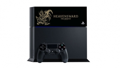 "ps4 ffxiv heavensward limited baner 384x220 - PlayStation 4 FAT 500GB ""Final Fantasy XIV: Heavensward"" HDD Cover Limited Edition"
