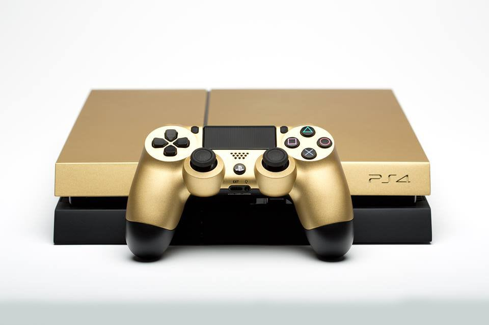 "ps4 gold taco bell limited 06 - PlayStation 4 FAT 500GB ""Taco Bell Gold"" Limited Edition"