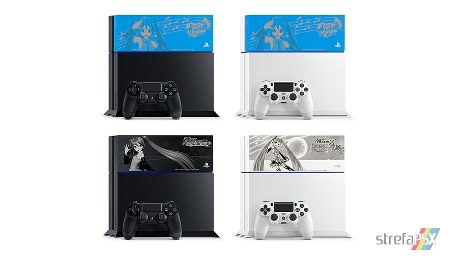 """ps4 hatsune miku limited 01 - PlayStation 4 FAT 500GB / 1TB """"Hatsune Miku - Project DIVA"""" HDD Cover Limited Edition"""