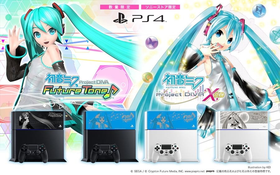 """ps4 hatsune miku limited 09 - PlayStation 4 FAT 500GB / 1TB """"Hatsune Miku - Project DIVA"""" HDD Cover Limited Edition"""
