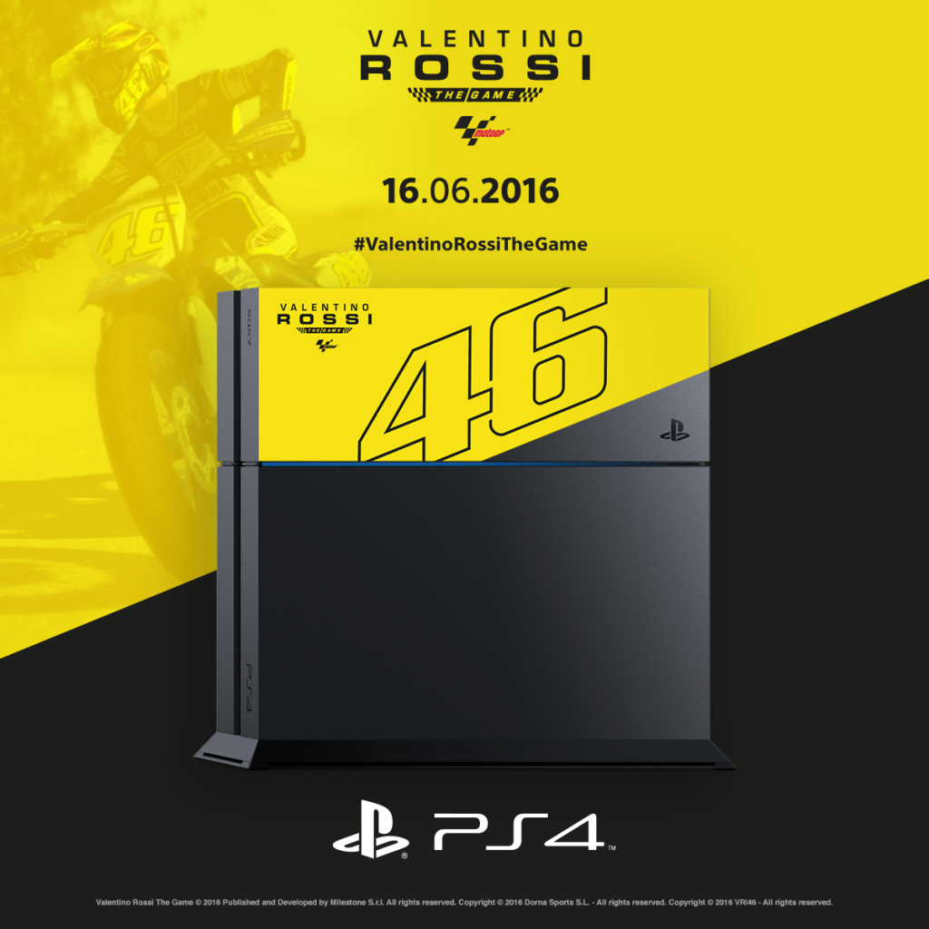"ps4 valentino rossi 04 - PlayStation 4 FAT 1TB ""Valentino Rossi"" Limited Edition"